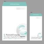 jpccleeさんの女性総活躍企業「フュージョン・アンド・カンパニー㈱」角2封筒・長3横型封筒デザインのご依頼への提案