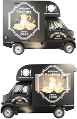 cocococoさんのキッチンカーの外装デザインを「正面、右側面、左側面、後ろ面」データ作成のご依頼への提案