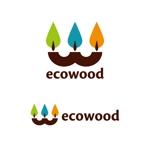 nAt6さんの建売住宅「エコウッド(ecowood)」のロゴの仕事への提案