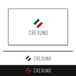 イタリアオーダーメイドスーツ会社クレアウーノ「CREAUNO」のロゴへの提案