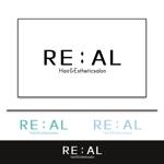 美容室とエステの複合サロン「hair&esthetic salon RE:AL」(リアル)のロゴへの提案