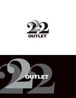 Doing1248さんのアウトレット商品を販売する店舗「222」のロゴへの提案