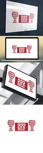 cozzyさんのアウトレット商品を販売する店舗「222」のロゴへの提案