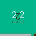 sa_akutsuさんのアウトレット商品を販売する店舗「222」のロゴへの提案