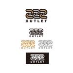 K-digitalsさんのアウトレット商品を販売する店舗「222」のロゴへの提案