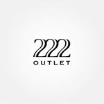 tanaka10さんのアウトレット商品を販売する店舗「222」のロゴへの提案
