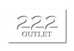 GIRAFFEさんのアウトレット商品を販売する店舗「222」のロゴへの提案