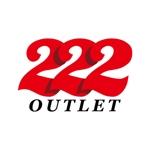 j-designさんのアウトレット商品を販売する店舗「222」のロゴへの提案