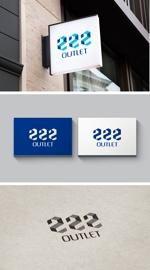 pekoodoさんのアウトレット商品を販売する店舗「222」のロゴへの提案