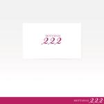 oo_designさんのアウトレット商品を販売する店舗「222」のロゴへの提案