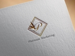 hayate_designさんのマーケティング会社:プラチナマーケティングロゴ【名刺等】への提案