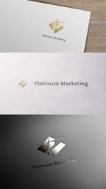 zeross_designさんのマーケティング会社:プラチナマーケティングロゴ【名刺等】への提案