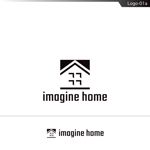 fs8156さんの住宅建築会社「イマジンホーム」のロゴへの提案