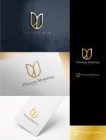 m_sobeautさんのマーケティング会社:プラチナマーケティングロゴ【名刺等】への提案