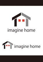 dd51さんの住宅建築会社「イマジンホーム」のロゴへの提案