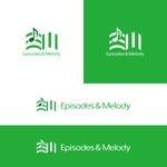 utamaruさんのウェブサイト「Episodes & Melody」のロゴへの提案