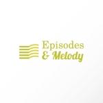katachidesignさんのウェブサイト「Episodes & Melody」のロゴへの提案