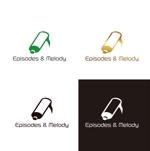 saki8さんのウェブサイト「Episodes & Melody」のロゴへの提案