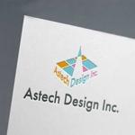 u164さんの床施工会社「Astech Design Inc.」のロゴへの提案
