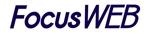 whitestarさんの「FocusWEB」のロゴ作成への提案