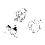 オシリが可愛い猫/動物イラストへの提案