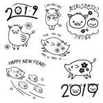 megu01さんの年賀状のデザイン 「亥」のイラスト6種類ほど 昨年までのイメージサンプルあり♪への提案