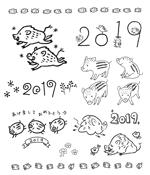 nekoyamannendoさんの年賀状のデザイン 「亥」のイラスト6種類ほど 昨年までのイメージサンプルあり♪への提案