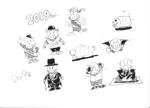 ichannel16さんの年賀状のデザイン 「亥」のイラスト6種類ほど 昨年までのイメージサンプルあり♪への提案