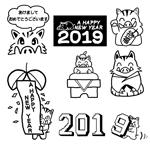 Doumeiさんの年賀状のデザイン 「亥」のイラスト6種類ほど 昨年までのイメージサンプルあり♪への提案