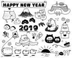 harunohiさんの年賀状のデザイン 「亥」のイラスト6種類ほど 昨年までのイメージサンプルあり♪への提案