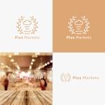quegeさんのパン屋事業 屋号「Plus Markets」のロゴ作成への提案