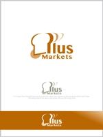 mahou-photさんのパン屋事業 屋号「Plus Markets」のロゴ作成への提案