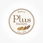 marineko1102さんのパン屋事業 屋号「Plus Markets」のロゴ作成への提案