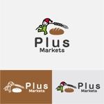 drkigawaさんのパン屋事業 屋号「Plus Markets」のロゴ作成への提案