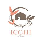 kurumi82さんの「hair salon ICCHI」のロゴ作成への提案