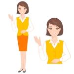 お買い物コンシェルジュ(若い女性)のキャラクターデザインへの提案