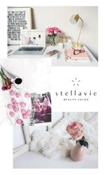 ALTAGRAPHさんの女性向け美容サロン「stellavie」のロゴへの提案
