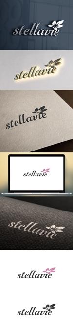 cozzyさんの女性向け美容サロン「stellavie」のロゴへの提案
