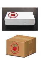 Wendyyさんのトマトの化粧箱に貼るシール マルカン農園のロゴへの提案