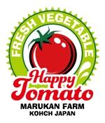 GONBEIさんのトマトの化粧箱に貼るシール マルカン農園のロゴへの提案