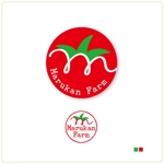 82910001さんのトマトの化粧箱に貼るシール マルカン農園のロゴへの提案