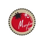 KOBEさんのトマトの化粧箱に貼るシール マルカン農園のロゴへの提案