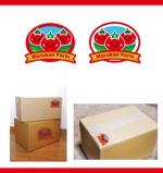 merody0603さんのトマトの化粧箱に貼るシール マルカン農園のロゴへの提案