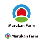 tsujimoさんのトマトの化粧箱に貼るシール マルカン農園のロゴへの提案