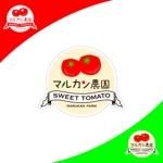 TMdesignさんのトマトの化粧箱に貼るシール マルカン農園のロゴへの提案