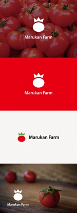 tanaka10さんのトマトの化粧箱に貼るシール マルカン農園のロゴへの提案