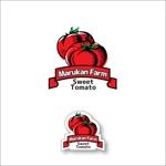 queuecatさんのトマトの化粧箱に貼るシール マルカン農園のロゴへの提案