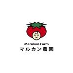 kyo-meiさんのトマトの化粧箱に貼るシール マルカン農園のロゴへの提案