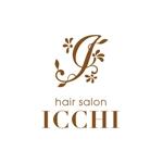 Doing1248さんの「hair salon ICCHI」のロゴ作成への提案