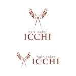 tikaさんの「hair salon ICCHI」のロゴ作成への提案